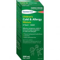 Chemists' Own Child Cold & Allergy 200ml