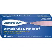 Chemists' Own Stomach Ache & Pain Relief 10mg 20 Tablets