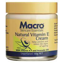 Macro Natural Vitamin E Cream 100g