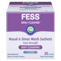 Fess Sinu Cleanse Nasal & Sinus Wash Deep Cleansing 25 Sachets