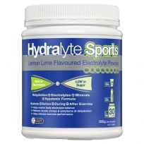 Hydralyte Electrolyte Powder Sports Lemon Lime 900G Tub