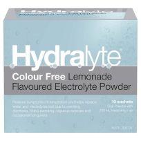 Hydralyte Electrolyte Powder Colourfree Lemonade 10 Sachets
