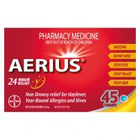 Aerius Allergy Relief 5mg 45 Tablets