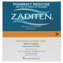 Zaditen Eye Drops 0.4ml Singles 20 Pack