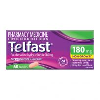 Telfast Hayfever Allergy Relief 180mg 60 Tablets