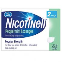 Nicotinell Lozenge 2mg Peppermint 216 Pack