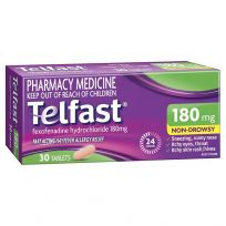 Telfast Hayfever Allergy Relief 180mg 30 Tablets