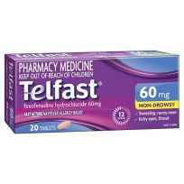 Telfast Hayfever Allergy Relief 60mg 20 Tablets