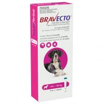Bravecto Spot-On XL 40 - 56kg Dog Flea & Tick Pink 1 Pack