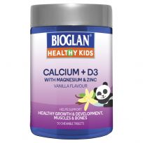 Bioglan Healthy Kids Calcium + D3 50 Tablets