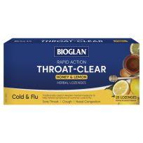 Bioglan Throat Clear Herbal Lozenges Honey & Lemon 20 Pack