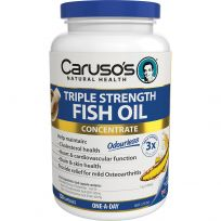 Caruso's Triple Strength Fish Oil Odourless 150 Capsules