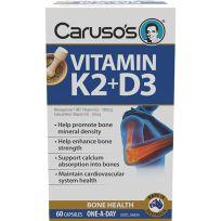 Caruso's Vitamin K2 + D3 60 Capsules