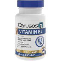 Caruso's Vitamin B2 100mg 120 Tablets