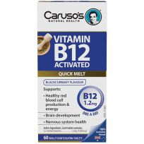 Caruso's Activated B12 Quick Melt 60 Tablets