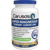 Caruso's Super Magnesium Powder Lemon Lime 250g