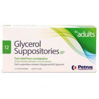 Glycerol Adult Suppositories 12 Pack
