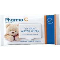 Pharma C Essentials Baby Water Wipes 80 Pack