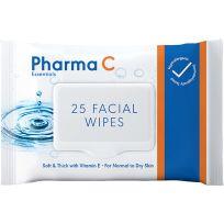 Pharma C Essentials Face Wipes Nourishing Vitamin E 25 Pack