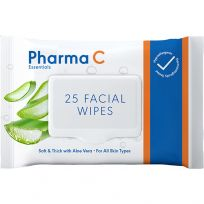 Pharma C Essentials Face Wipes Cleansing Aloe Vera 25 Pack