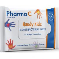Pharma C Essentials Kidz Antibacterial Wipes 15 Pack