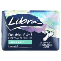Libra Double Liners 2in1 20 pack
