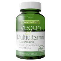 Naturopathica Vegan Multivitamin Plus Spirulina 50 Capsules