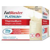 FatBlaster Platinum+ ThermoBurn Weight Loss Shake Vanilla 14 x 50g