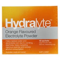 Hydralyte Electrolyte Powder Orange 10 Sachets