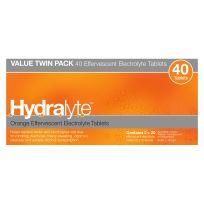 Hydralyte Electrolyte Effervescent Orange 40 Tablets