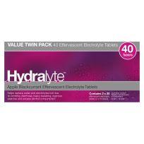 Hydralyte Electrolyte Effervescent Apple Blackcurrant 40 Tablets