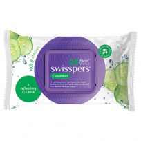 Swisspers Facial Wipes Cucumber 25 Pack