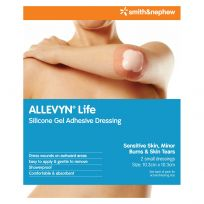 Allevyn Life Silicone Dressing Small 10.3cm X 10.3cm 2 Pack