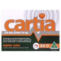 Cartia Low Dose Aspirin 100mg 84 Tablets