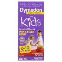 Dymadon Kids Paracetamol 2 - 12 Years Strawberry 200ml