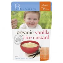 Bellamy's Organic Vanilla Rice Custard 125g