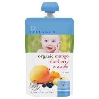 Bellamy's Organic Mango, Blueberry & Apple 120g