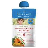 Bellamy's Organic Spring Vegetable Macaroni 120g