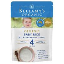 Bellamy's Organic Baby Rice with Prebiotic 125g