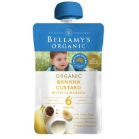 Bellamy's Organic Banana Custard with Flaxseed 120g
