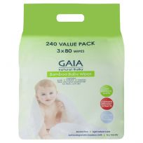 Gaia Natural Baby Bamboo Wipes 240 Pack
