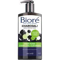 Biore Deep Pore Charcoal Cleanser 200ml