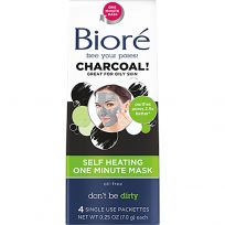 Biore Charcoal Self Heating One Minute Mask 4 Pack