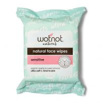 Wotnot Facial Wipes For Normal/Sensitive Skin 25 Pack