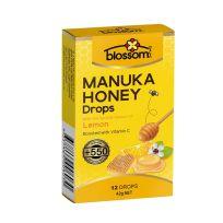 Blossom Manuka Honey Drops Lemon 12 Lozenges