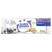 Bubs Organic Smiley Squares Blueberry 14g