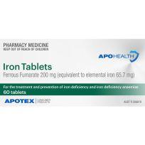 ApoHealth Iron 60 Tablets (S2)