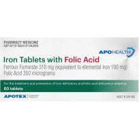 ApoHealth Iron with Folic Acid 60 Tablets (S2)