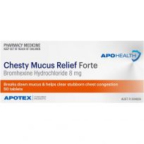 ApoHealth Chesty Mucus Relief 8mg Forte 50 Tablets Blister Pack