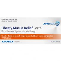 ApoHealth Chesty Mucus Relief Forte 100 Tablets (S2)